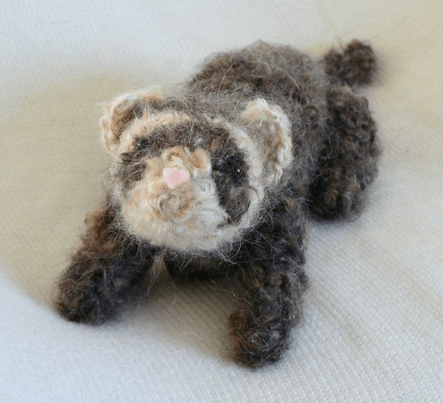 Fuzzy Ferret Amigurumi Pattern by Planet June