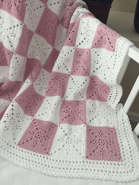 Granny Square Blanket Crochet Pattern by Deborah O Leary Pattern