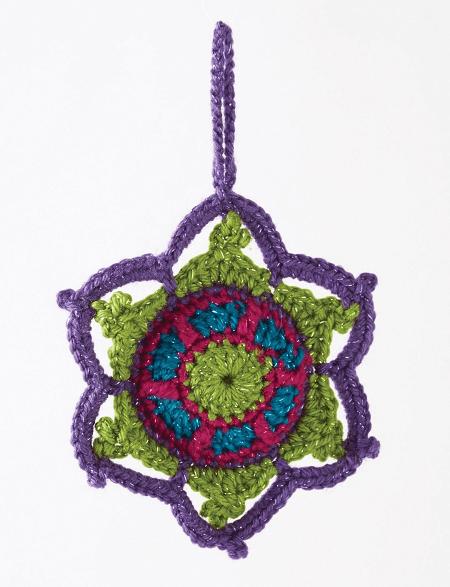 Jewel Tone Crochet Snowflake Pattern by Yarnspirations
