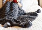 Knit Look Crochet Throw Blanket Crochet Pattern by Mama In A Stitch