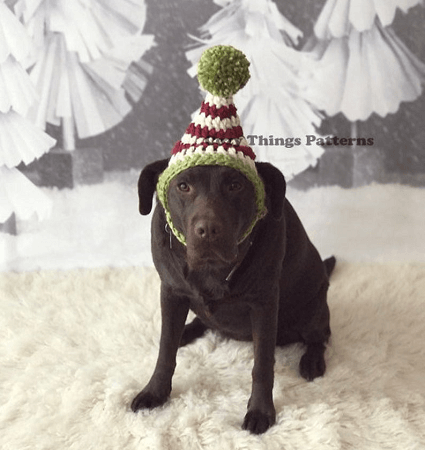 Large Dog Elf Hat Crochet Pattern by Cozy Things Patterns