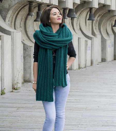 Lenny Scarf Crochet Pattern by Avarus Crochet Designs