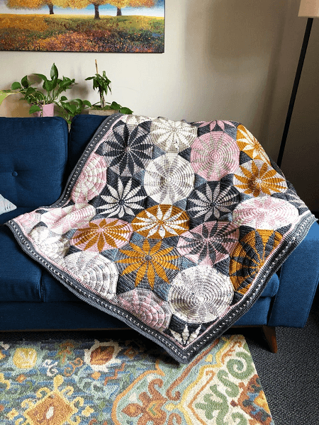 Marguerite Crochet Blanket Pattern by Mobius Girl Design