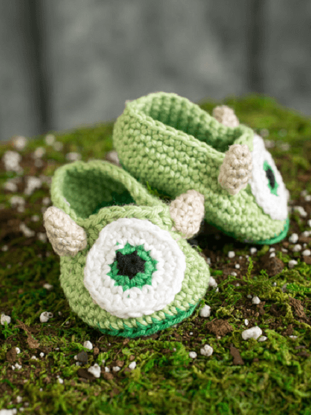 Monster Baby Booties Crochet Pattern by I Like Crochet