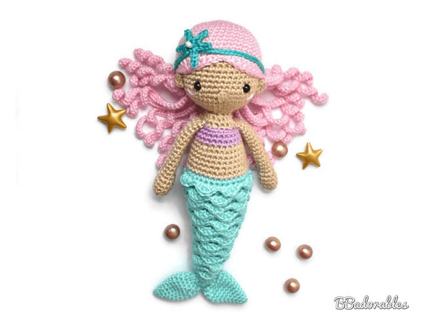 Nerea Mermaid Crochet Pattern by BB Adorables