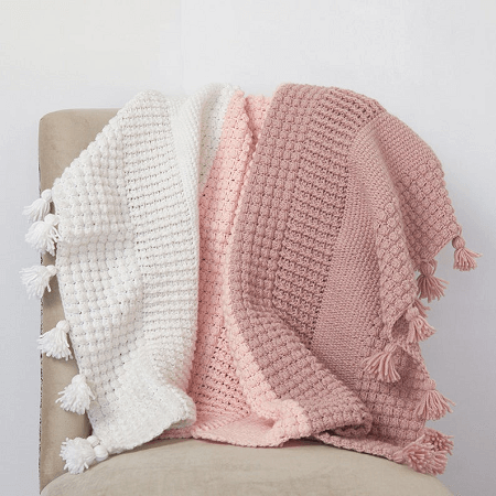 Ombre Textured Blanket Crochet Pattern by Dabbles And Babbles