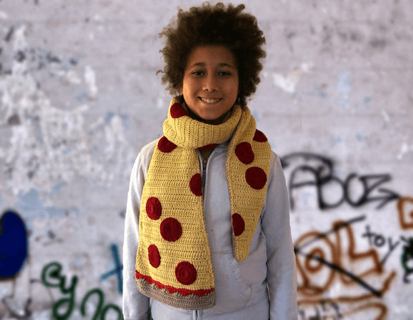 Pizza Scarf Crochet Pattern by Lily Of The Valley TM