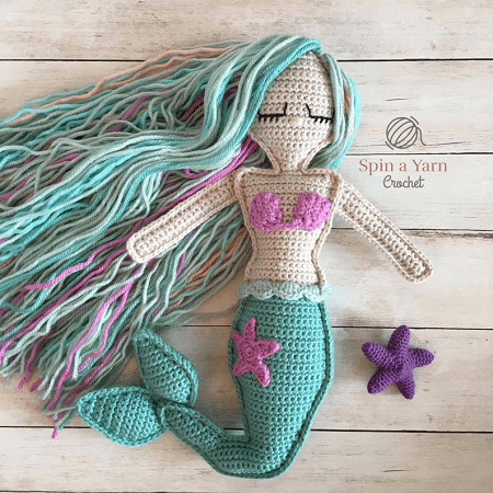 Ragdoll Mermaid Crochet Pattern by Spin A Yarn Crochet