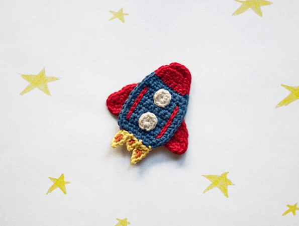 Rocket Applique Crochet Pattern by One And Two Company