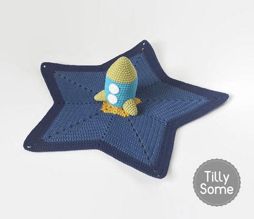 Rocket Lovey Crochet Pattern by Tilly Some