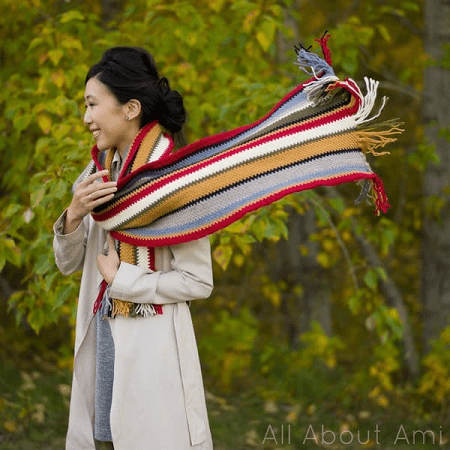 Rustic Canyon Crochet Scarf Pattern by All About Ami