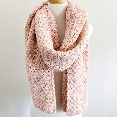 Simple Crochet Scarf Pattern by Just Be Crafty Shop