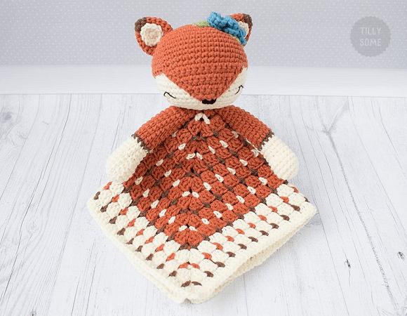Sleepy Fox Lovey Crochet Pattern by Tilly Some
