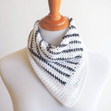 Striped Neck Scarf Crochet Pattern by Ideal Me