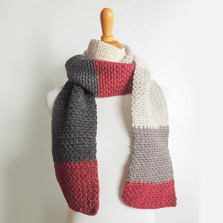 The Boyfriend Scarf Crochet Pattern by Dabbles And Babbles