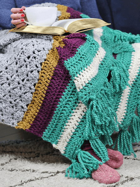 The Hawthorn Afghan Free Crochet Blanket Pattern by Persia Lou