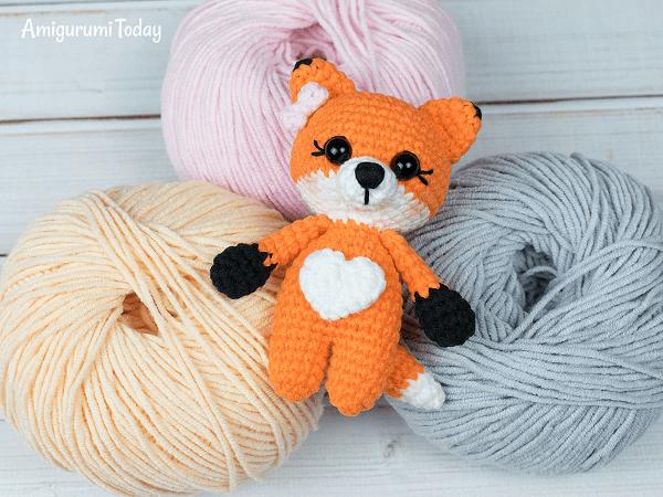 Tiny Amigurumi Fox Crochet Pattern by Amigurumi Today