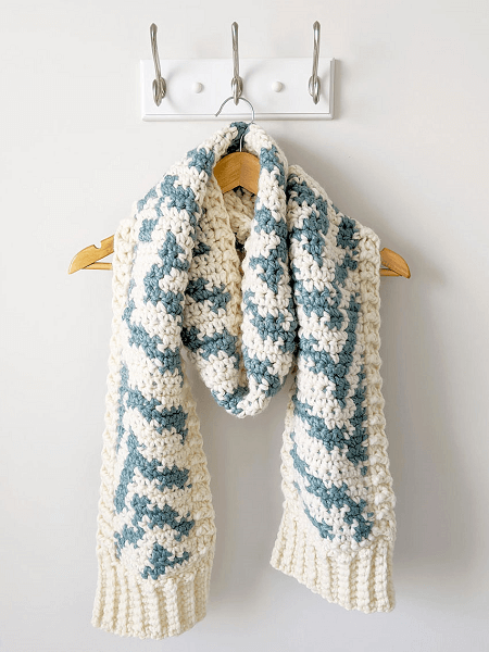 Zebra Print Crochet Scarf Pattern by Just Be Crafty