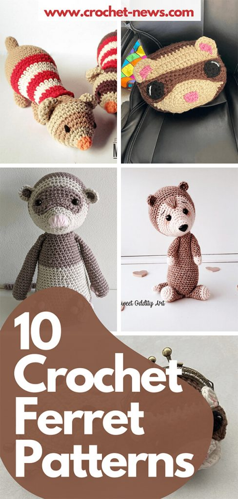 10 Crochet Ferret Patterns