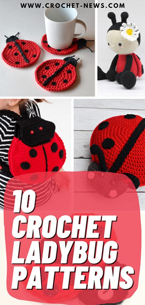 10 Crochet Ladybug Patterns
