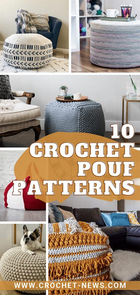 10 Crochet Pouf Patterns