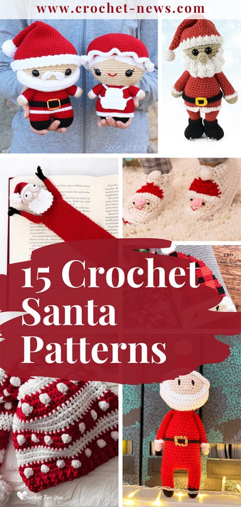 15 Crochet Santa Patterns