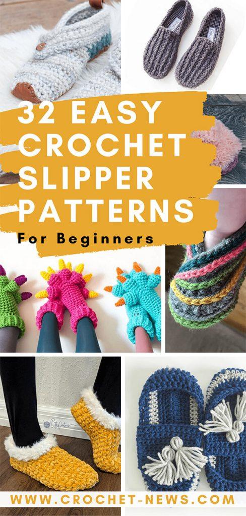 32 Easy Crochet Slipper Patterns For Beginners