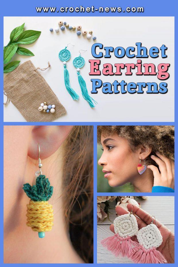 CROCHET EARRINGS PATTERNS
