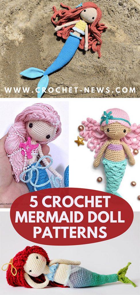 5 Crochet Mermaid Doll Patterns