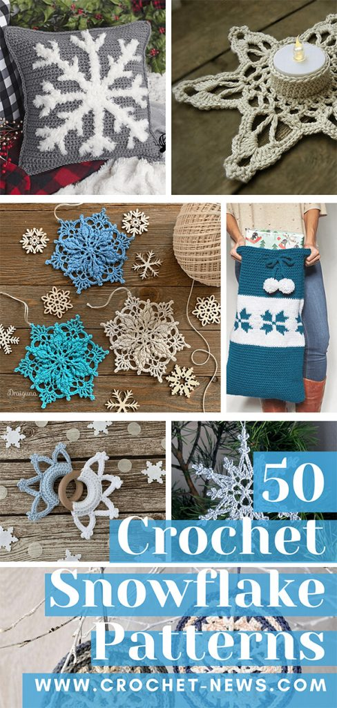 50 Crochet Snowflake Patterns