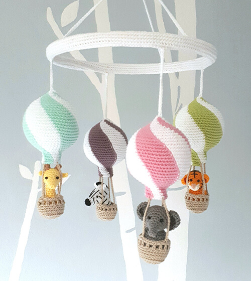 Animal-themed Crochet Mobile By Birdsandcrickets
