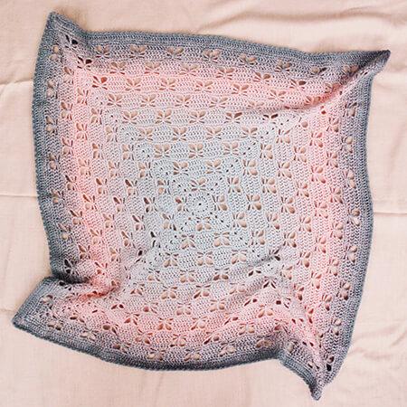 Garden Butterfly Blanket Crochet Pattern