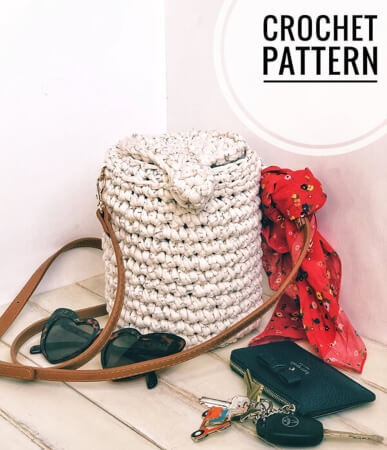 Crochet Bucket Bag By CrochetbycolleenUS