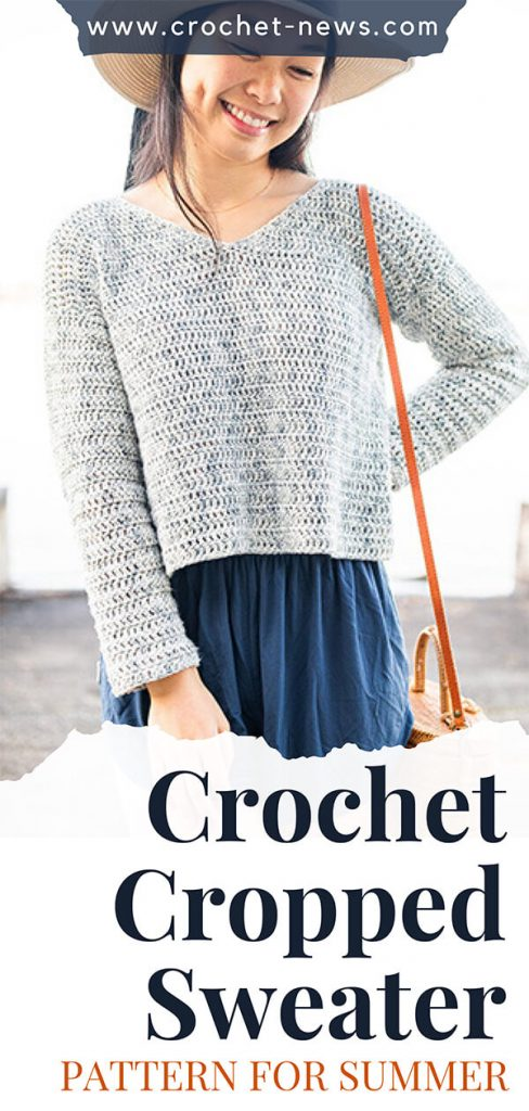 Crochet Cropped Sweater Pattern for Summer