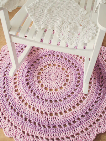 Crochet Mandala Floor Rug TShirt Yarn Pattern By Crafts Tutsplus