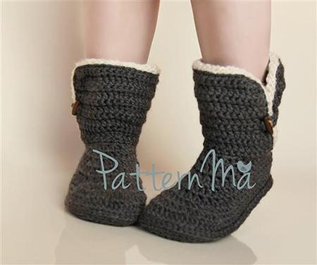 Crochet Slipper Pattern By PatternMa