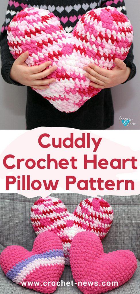 Cuddly Crochet Heart Pillow Pattern