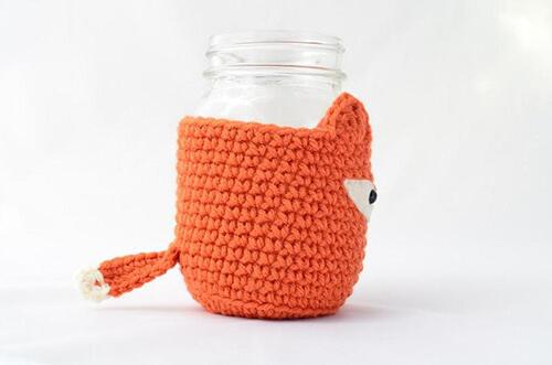 Fox's Tail of the Crochet Mason Jar By PopsDeMilk