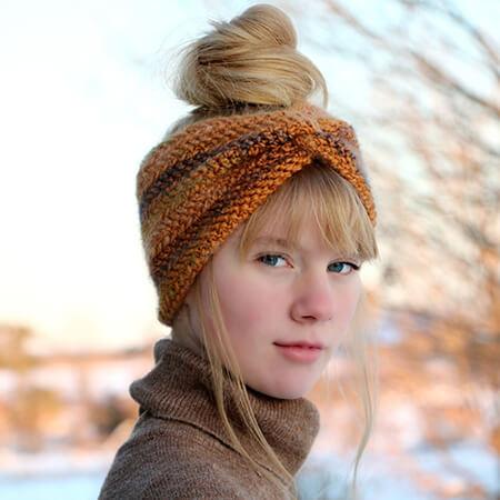 Herringbone Double Crochet Stitch Twisted Headband Pattern By MJsOffTheHookDesigns