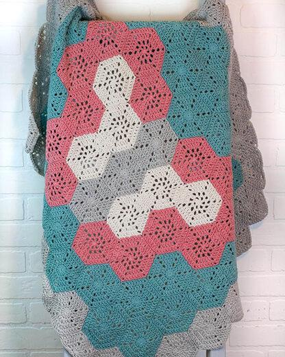 Hexagon Baby Butterfly Crochet Blanket Pattern