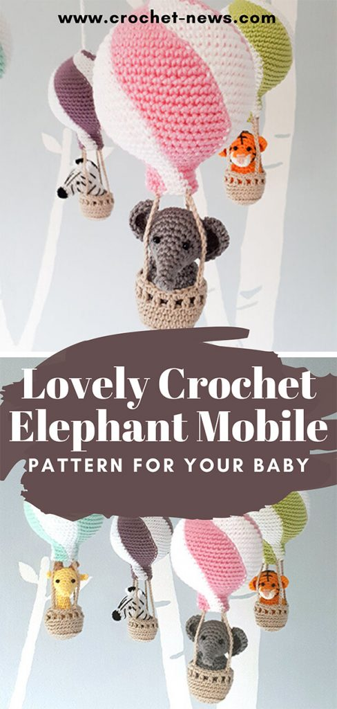 Lovely Crochet Elephant Mobile Pattern For Your Baby