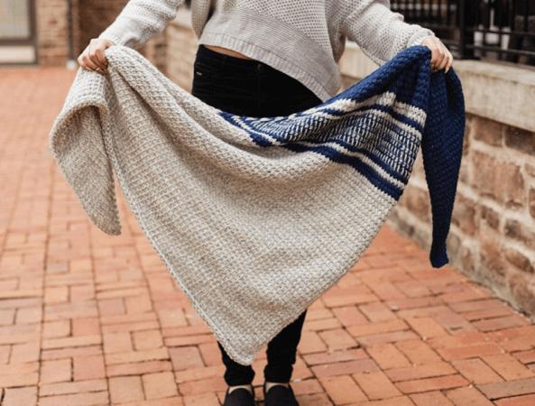 Ada Shawl Tunisian Crochet Pattern by TL Yarn Crafts