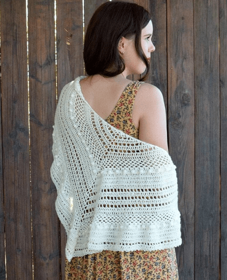 Al Fresco Shawl Crochet Pattern by Hooked On Homemade Happiness