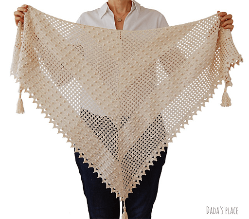 Awana Shawl Crochet Pattern by Dada's Place
