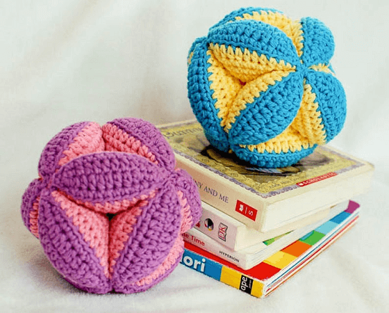 Baby Clutch Ball Baby Toy Crochet Pattern by Petals To Picots