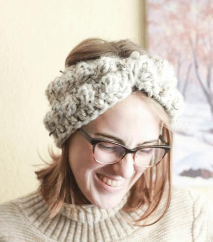 Bobble Ear Warmer Crochet Pattern by E'Claire Makery