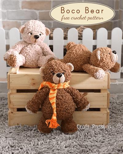 Boco Bear Free Crochet Pattern by Craft Passion