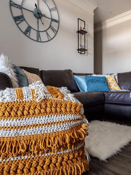 Boho Pouf Crochet Pattern by Dark N Twisty Housewife