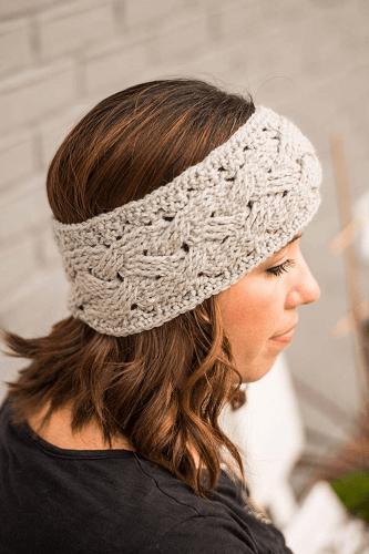 Braided Cable Ear Warmer Crochet Pattern by Crochet It Creations US