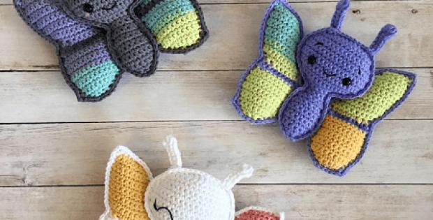 Butterfly Amigurumi Crochet Pattern by Spin A Yarn Studio
